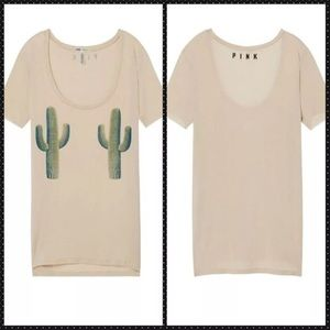 PINK cactus t-shirt